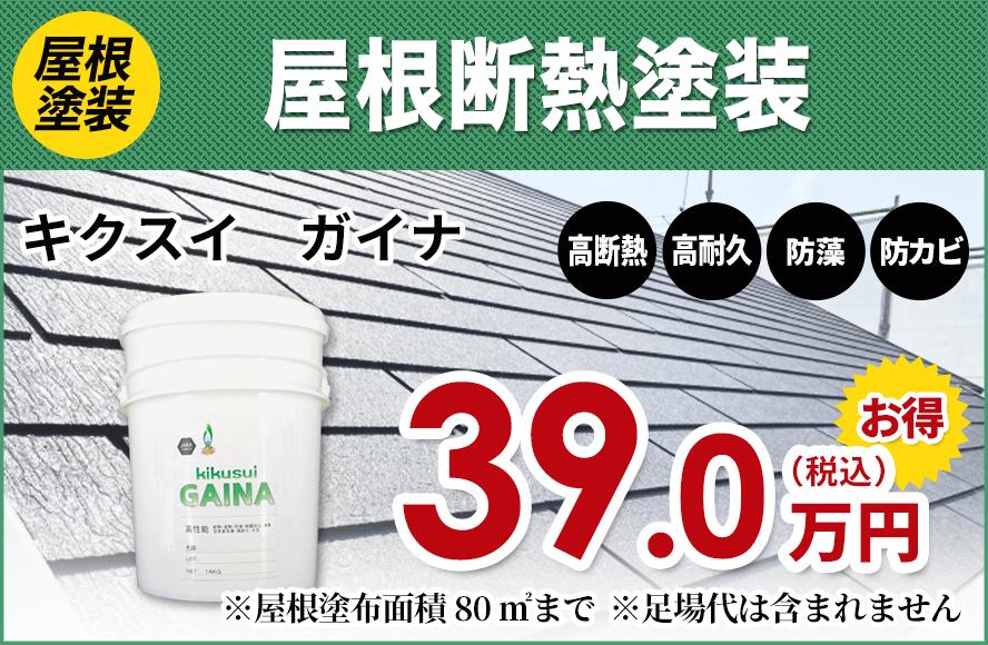 屋根断熱塗料キクスイガイナ