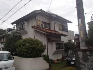 浅口市鴨方町外壁・屋根塗装リフォーム工事(施工前1)