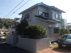 浅口市鴨方町外壁・屋根塗装リフォーム工事(施工後1)