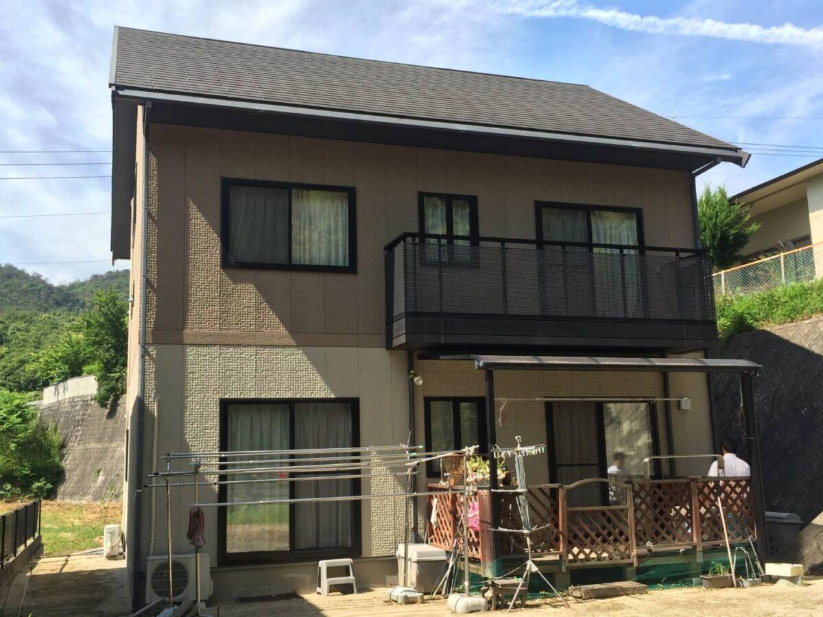 浅口郡里庄町 屋根・外壁の塗装リフォーム工事(施工前屋根)