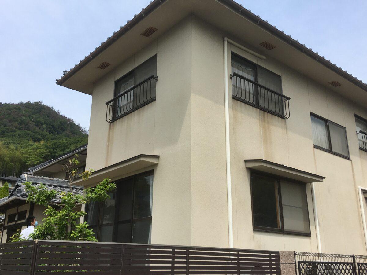 笠岡市 神島 屋根葺き替え・外壁塗装工事(施工前1)