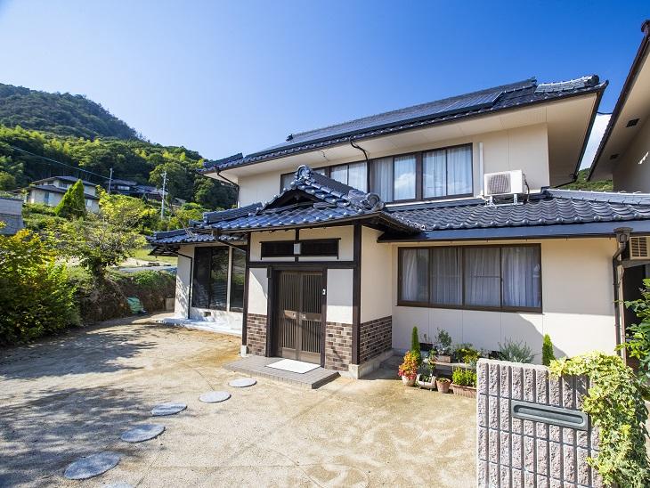 笠岡市 神島 屋根葺き替え・外壁塗装工事(施工後2)