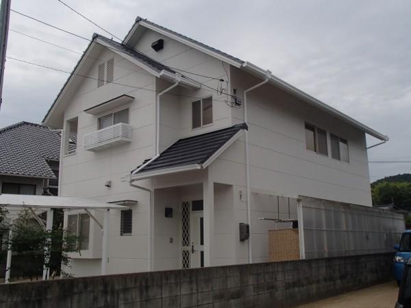 浅口市鴨方町 外壁塗装リフォーム工事(施工後1)