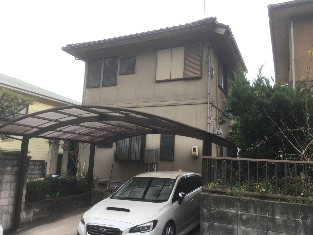 笠岡市城見台 外壁塗装工事事例(施工前1)