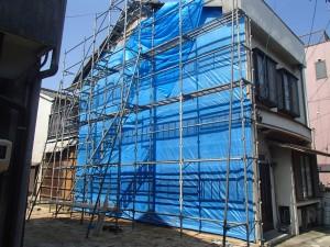 笠岡市笠岡 外壁改修リフォーム工事(施工前2)