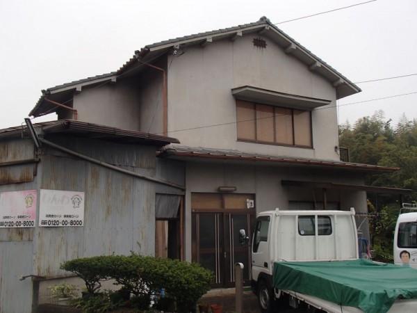 笠岡市 外壁の塗装リフォーム工事(施工前1)