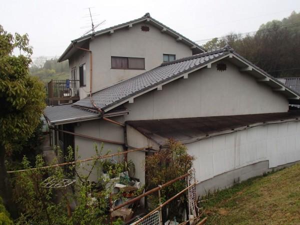 笠岡市 外壁の塗装リフォーム工事(施工前2)