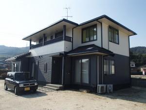 笠岡市 外壁塗装・サンルーム設置リフォーム工事(施工後1)