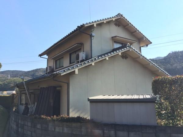笠岡市 外壁塗装・天日の撤去リフォーム工事(施工前)