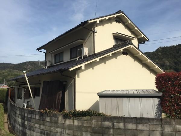笠岡市 外壁塗装・天日の撤去リフォーム工事(施工後)